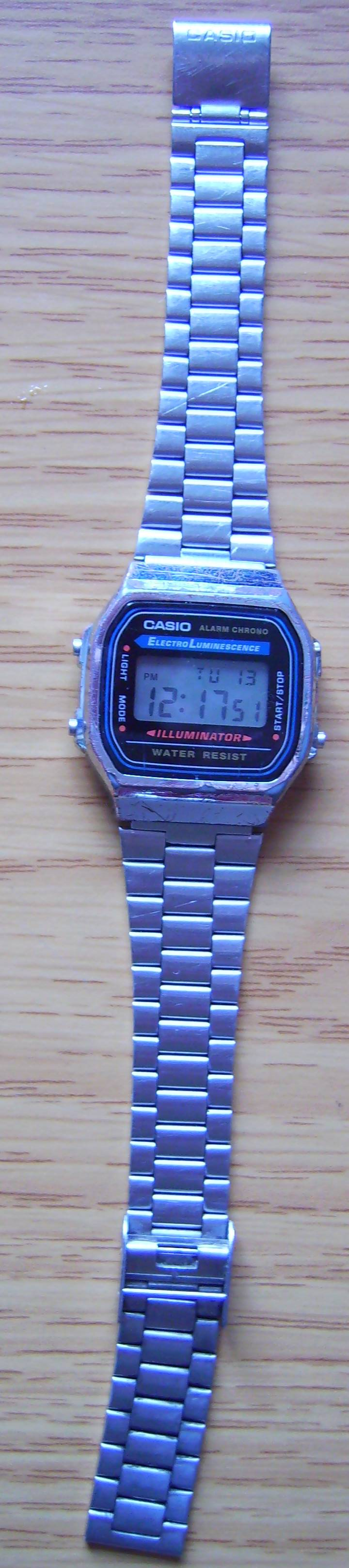 The watch in question (CASIO 1572)