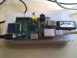 Unboxed Raspberry Pi with entropy key